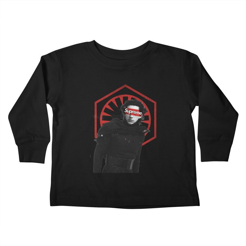 Supreme Leader - Kylo Kids Toddler Longsleeve T-Shirt by halfcrazy designs
