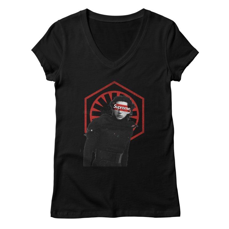 Supreme Leader - Kylo Women's V-Neck by halfcrazy designs