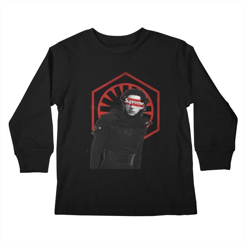 Supreme Leader - Kylo Kids Longsleeve T-Shirt by halfcrazy designs