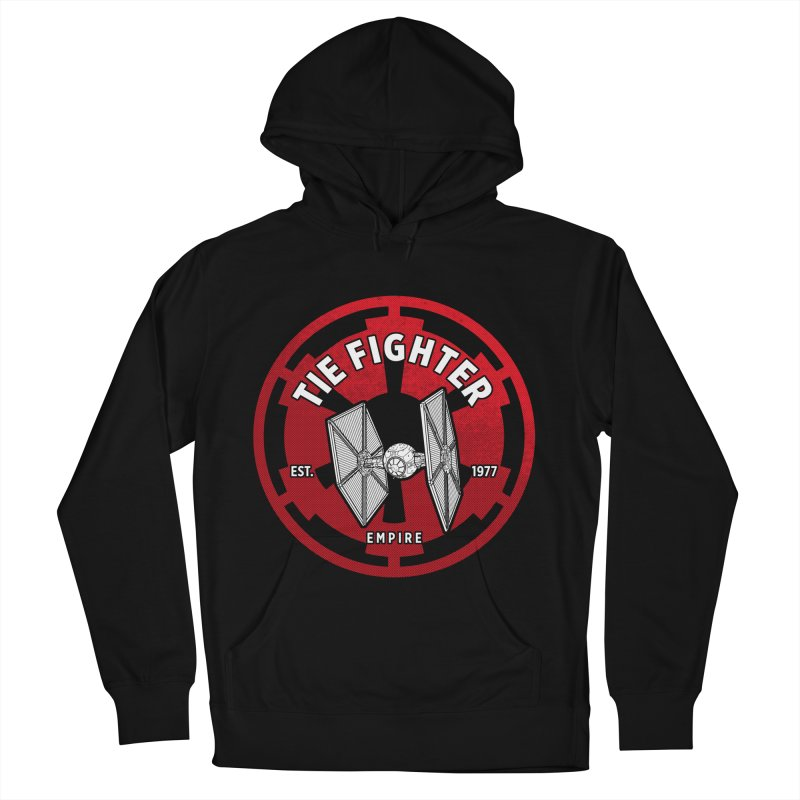 Galactic Empire Fighter Women's French Terry Pullover Hoody by halfcrazy designs