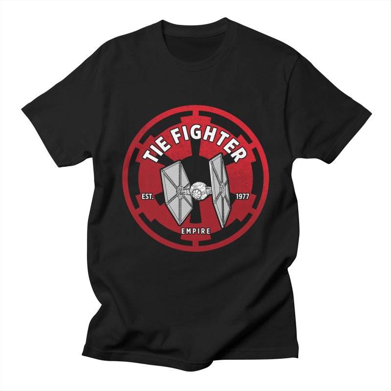 Galactic Empire Fighter Men's Regular T-Shirt by halfcrazy designs