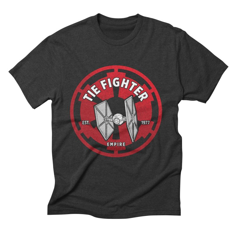 Galactic Empire Fighter Men's T-Shirt by halfcrazy designs