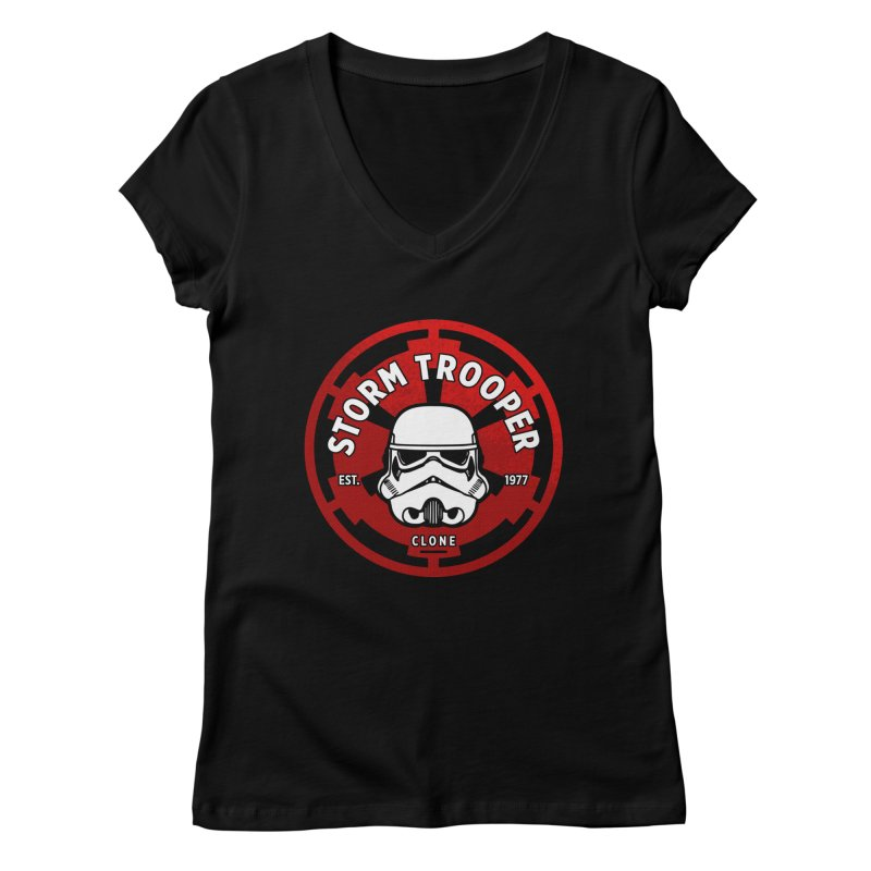 Galactic Empire - Trooper Women's V-Neck by halfcrazy designs