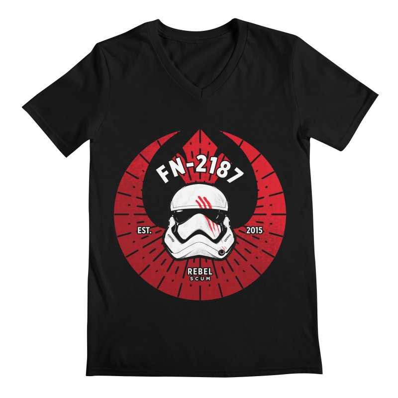 Rebel Scum - Finn Men's V-Neck by halfcrazy designs