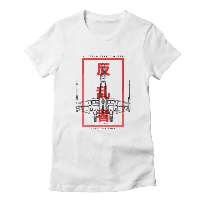 Rebel Scum - Star Fighter Women's T-Shirt by halfcrazy designs