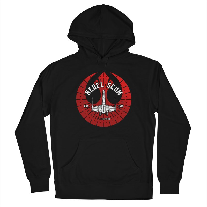 Rebel Scum - X Wing Men's Pullover Hoody by halfcrazy designs