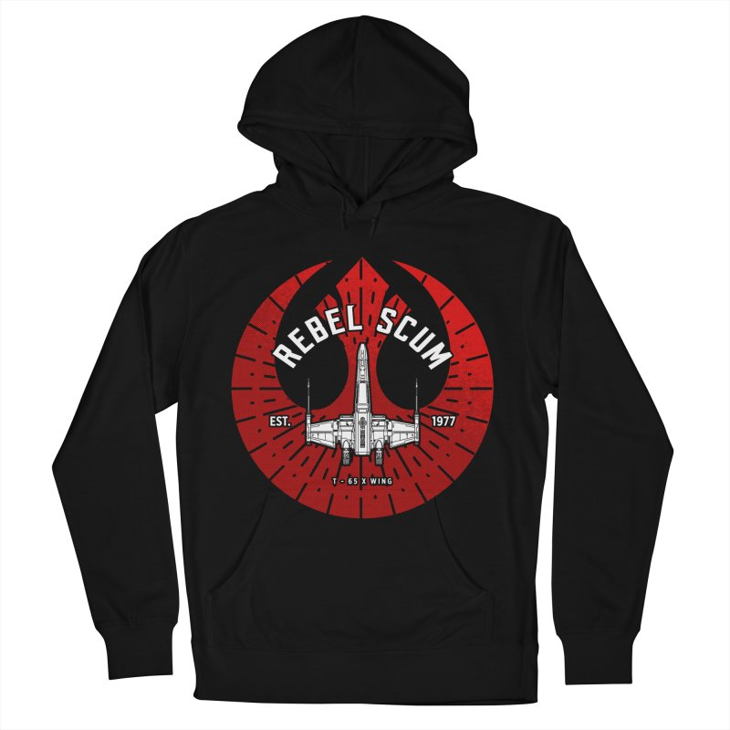 Rebel Scum - X Wing Men's French Terry Pullover Hoody by halfcrazy designs