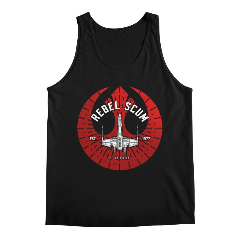 Rebel Scum - X Wing Men's Regular Tank by halfcrazy designs