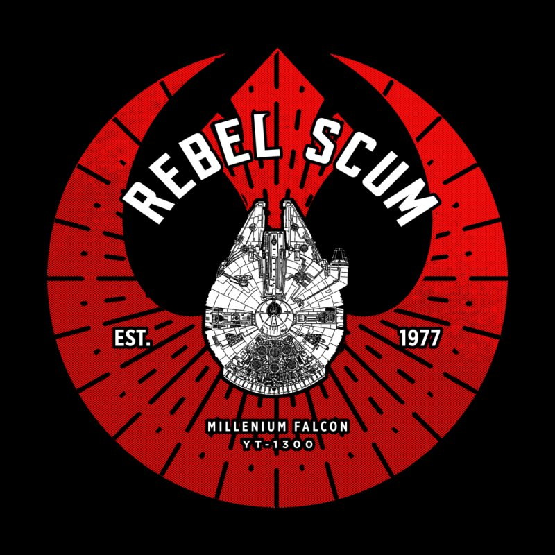 Rebel Scum - Millennium Falcon Men's T-Shirt by halfcrazy designs