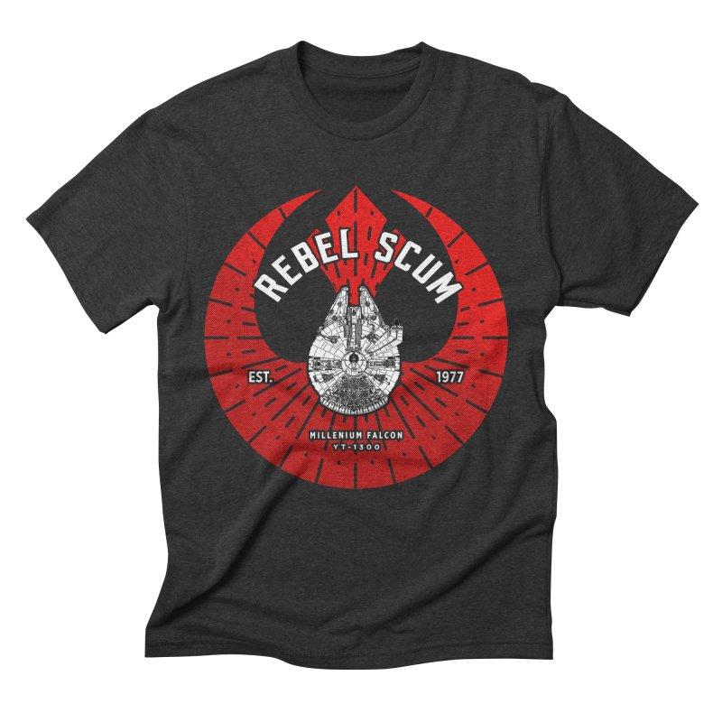 Rebel Scum - Millennium Falcon Men's T-Shirt by halfcrazy designs