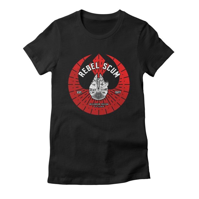 Rebel Scum - Millennium Falcon Women's T-Shirt by halfcrazy designs