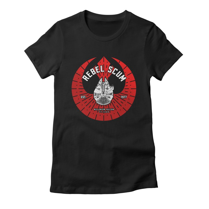 Rebel Scum - Millennium Falcon Women's T-Shirt by halfcrazy designs