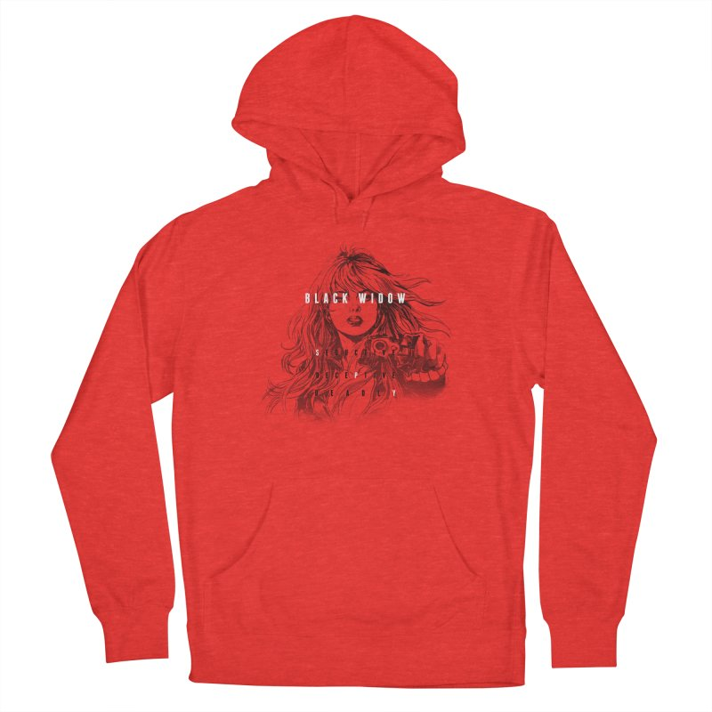 Black Widow Women's Pullover Hoody by halfcrazy designs