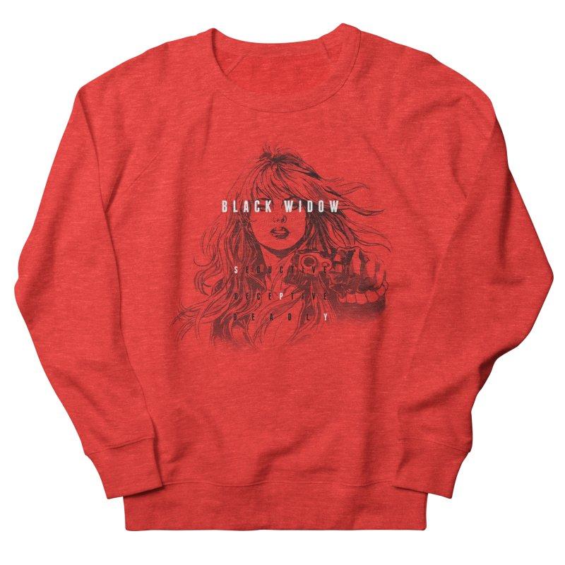 Black Widow Women's Sweatshirt by halfcrazy designs