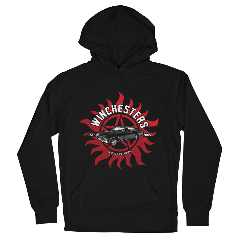 Supernatural - The Winchesters Men's French Terry Pullover Hoody by halfcrazy designs