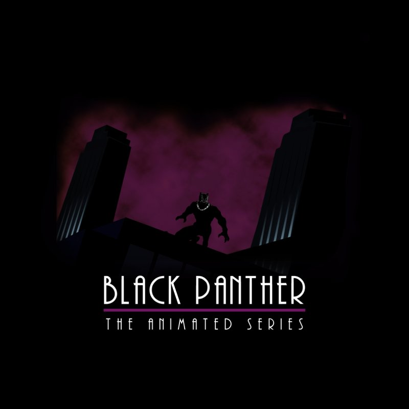 Black Panther The Animated Series Kids T-Shirt by halfcrazy designs
