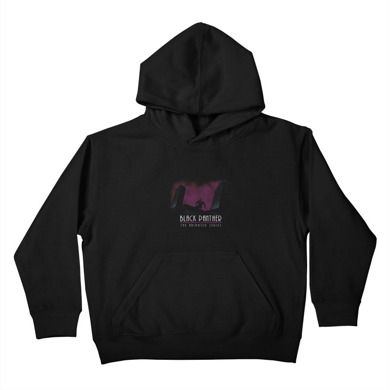 Black Panther The Animated Series Kids Pullover Hoody by halfcrazy designs