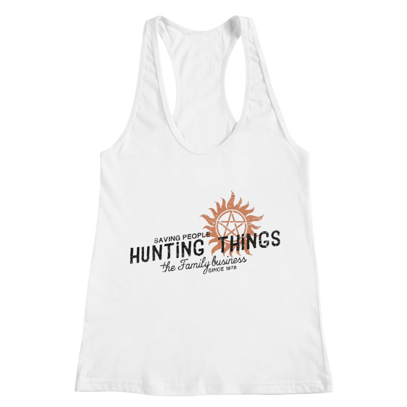 The Family Business Women's Racerback Tank by halfcrazy designs