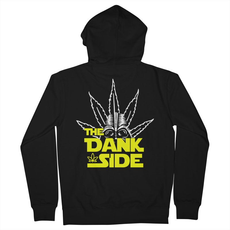 The Dank Side Men's Zip-Up Hoody by halfcrazy designs