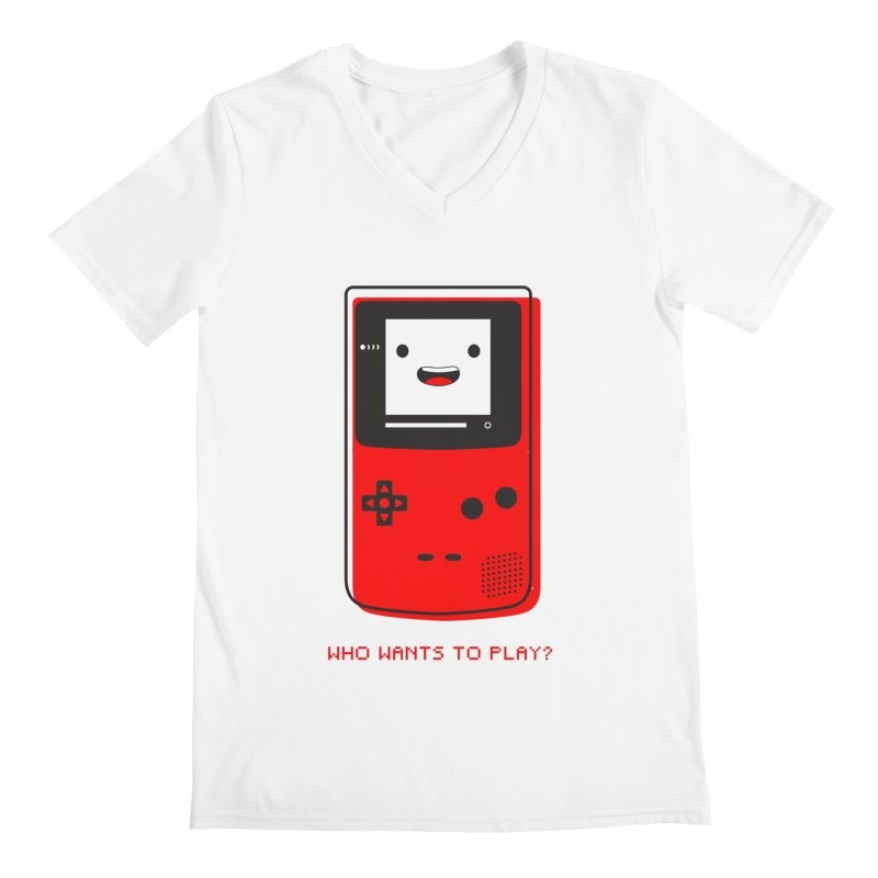 Who wants to play? Men's V-Neck by halfcrazy designs