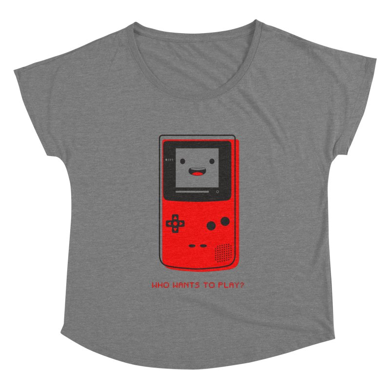 Who wants to play? Women's Scoop Neck by halfcrazy designs