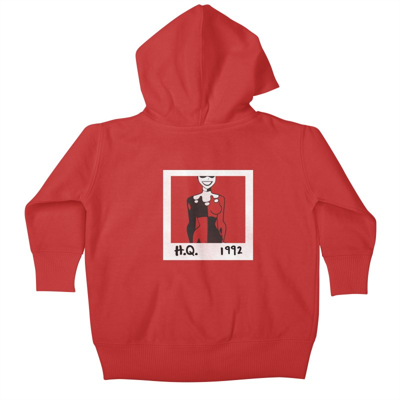 H. Q. - 1992 Kids Baby Zip-Up Hoody by halfcrazy designs