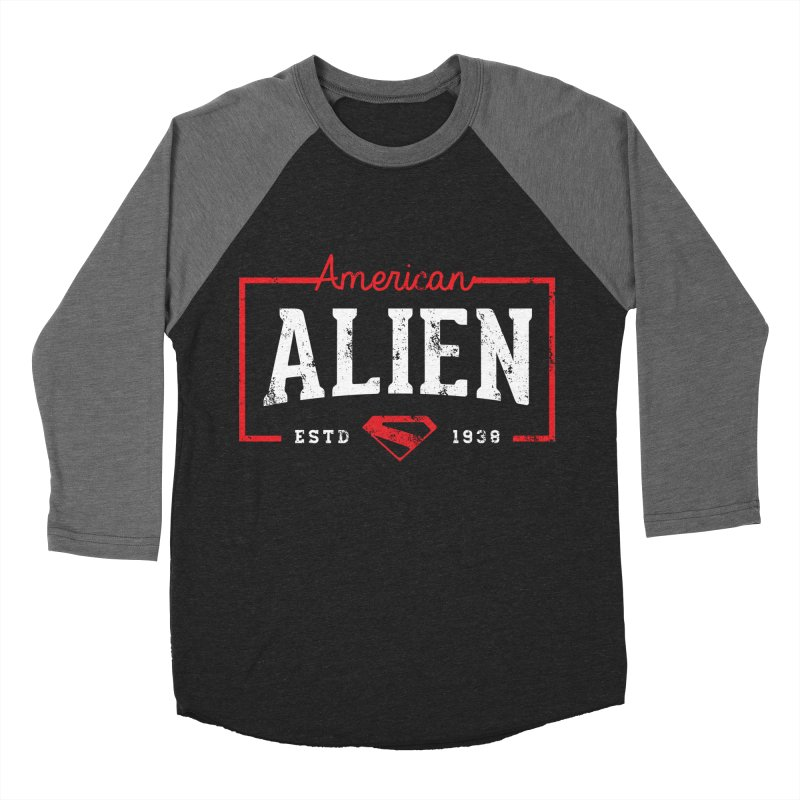 American Alien Women's Baseball Triblend Longsleeve T-Shirt by halfcrazy designs