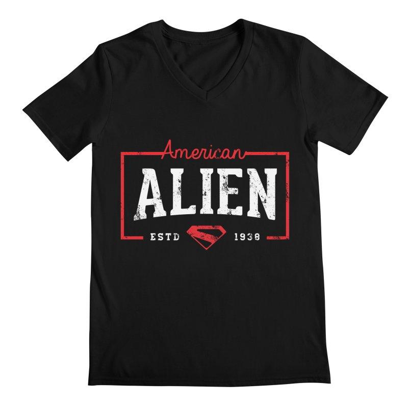 American Alien Men's V-Neck by halfcrazy designs