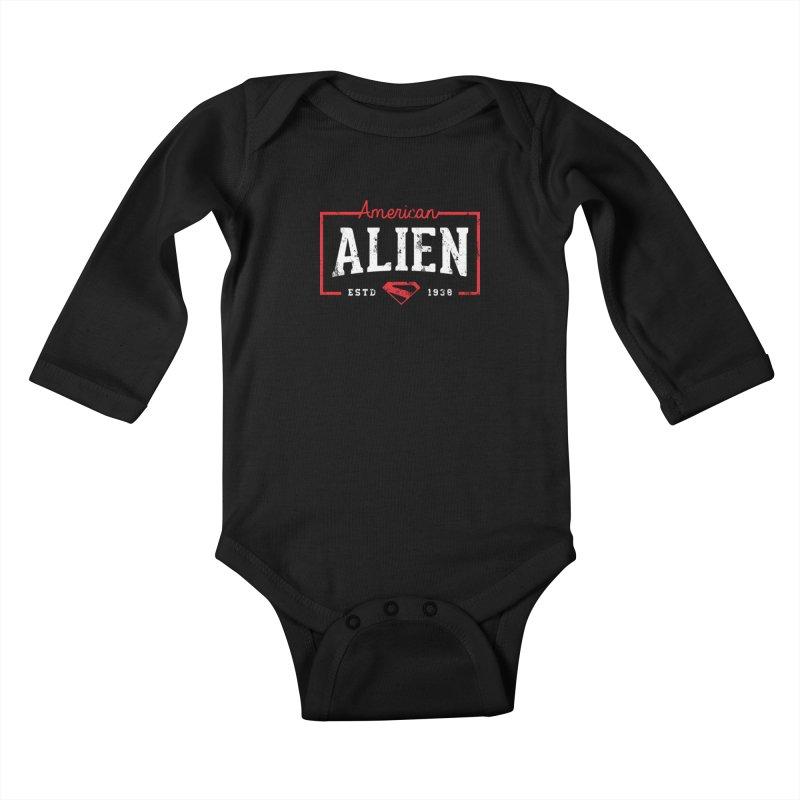 American Alien Kids Baby Longsleeve Bodysuit by halfcrazy designs