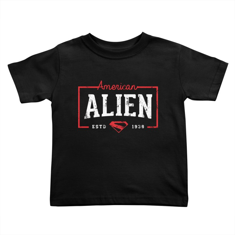 American Alien Kids Toddler T-Shirt by halfcrazy designs