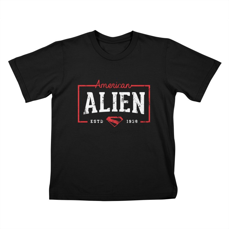 American Alien Kids T-Shirt by halfcrazy designs