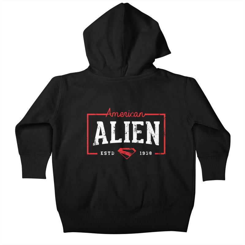 American Alien Kids Baby Zip-Up Hoody by halfcrazy designs