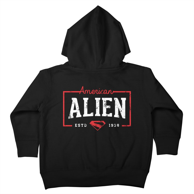 American Alien Kids Toddler Zip-Up Hoody by halfcrazy designs