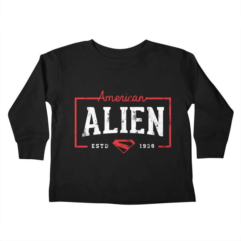 American Alien Kids Toddler Longsleeve T-Shirt by halfcrazy designs