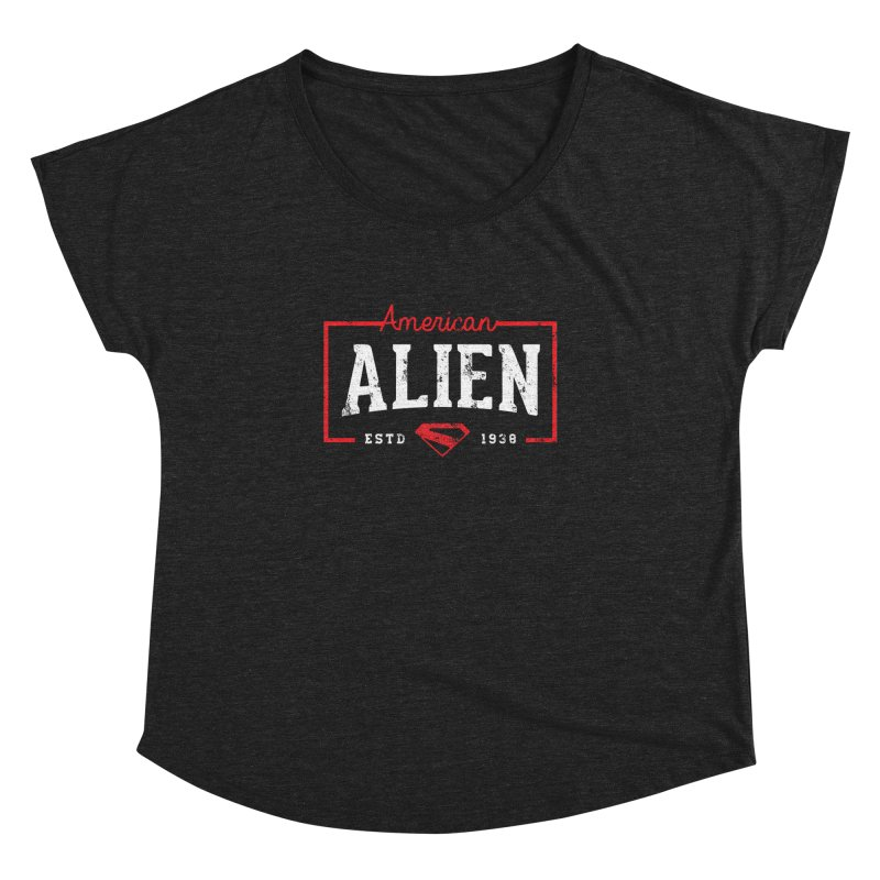 American Alien Women's Dolman Scoop Neck by halfcrazy designs