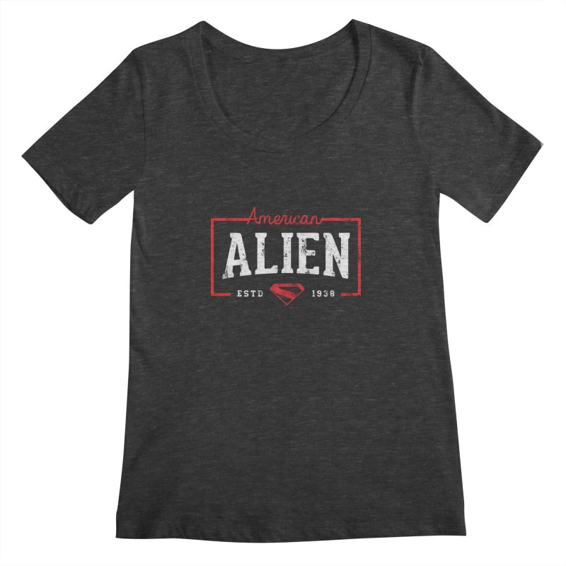 American Alien Women's Regular Scoop Neck by halfcrazy designs