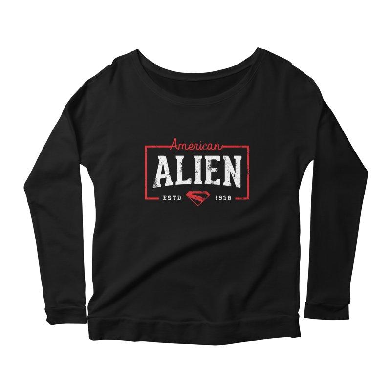American Alien Women's Scoop Neck Longsleeve T-Shirt by halfcrazy designs