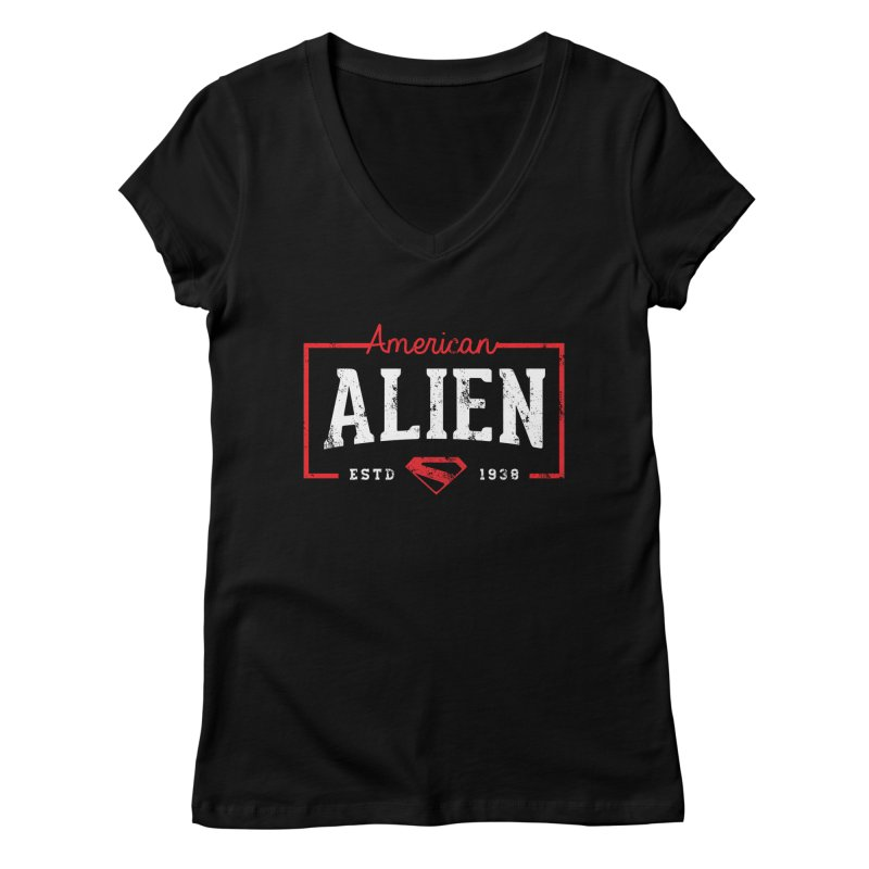 American Alien Women's V-Neck by halfcrazy designs