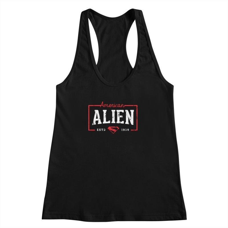 American Alien Women's Racerback Tank by halfcrazy designs