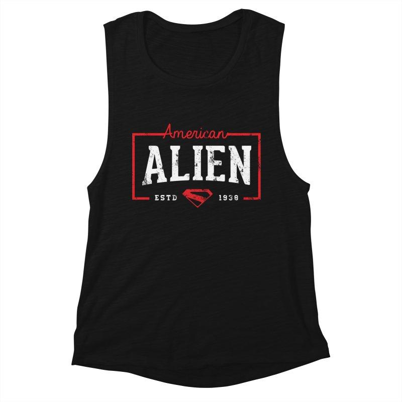 American Alien Women's Muscle Tank by halfcrazy designs