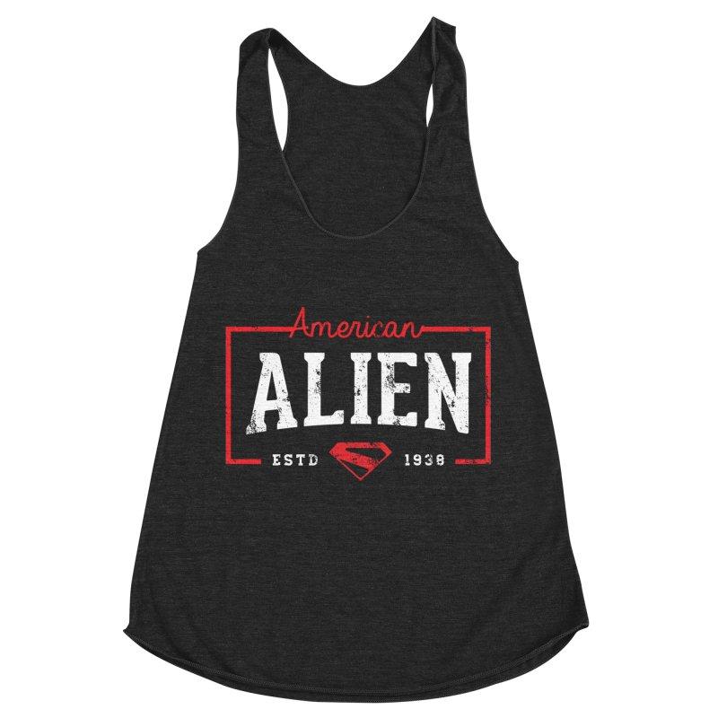 American Alien Women's Racerback Triblend Tank by halfcrazy designs