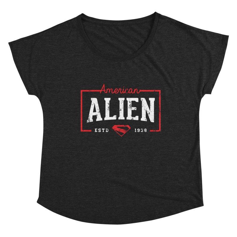 American Alien Women's Scoop Neck by halfcrazy designs