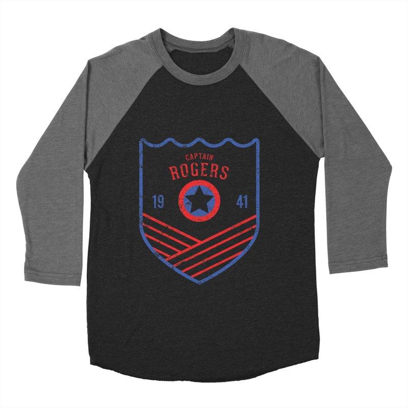 Vintage Rogers Women's Baseball Triblend Longsleeve T-Shirt by halfcrazy designs
