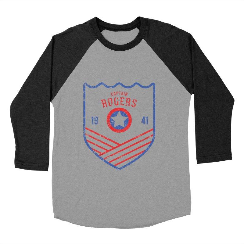 Vintage Rogers Men's Baseball Triblend Longsleeve T-Shirt by halfcrazy designs