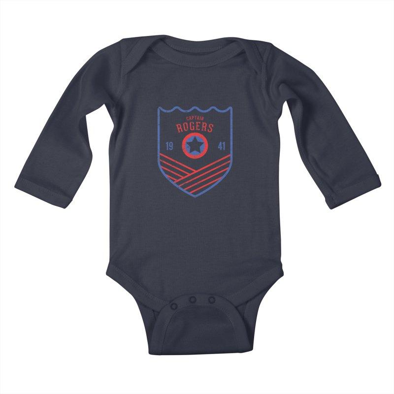 Vintage Rogers Kids Baby Longsleeve Bodysuit by halfcrazy designs