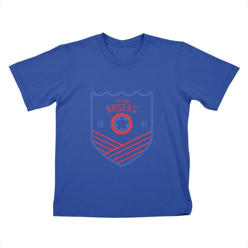 Vintage Rogers Kids T-Shirt by halfcrazy designs