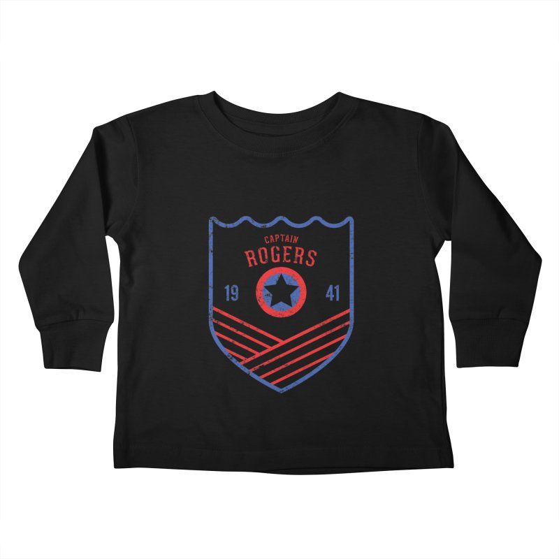 Vintage Rogers Kids Toddler Longsleeve T-Shirt by halfcrazy designs
