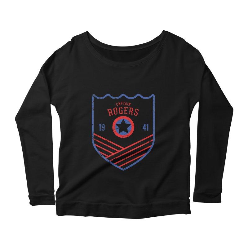 Vintage Rogers Women's Scoop Neck Longsleeve T-Shirt by halfcrazy designs