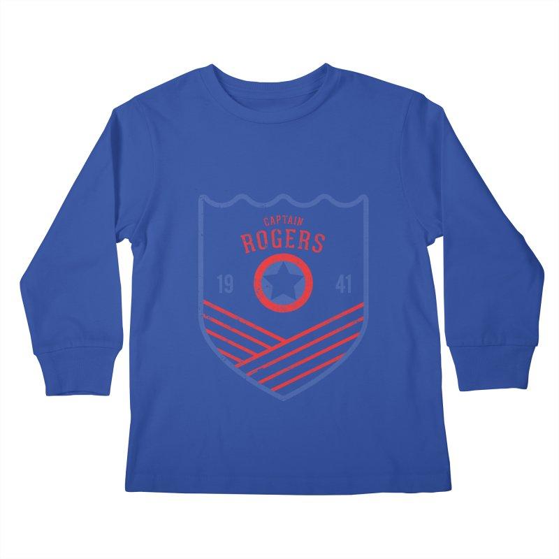 Vintage Rogers Kids Longsleeve T-Shirt by halfcrazy designs