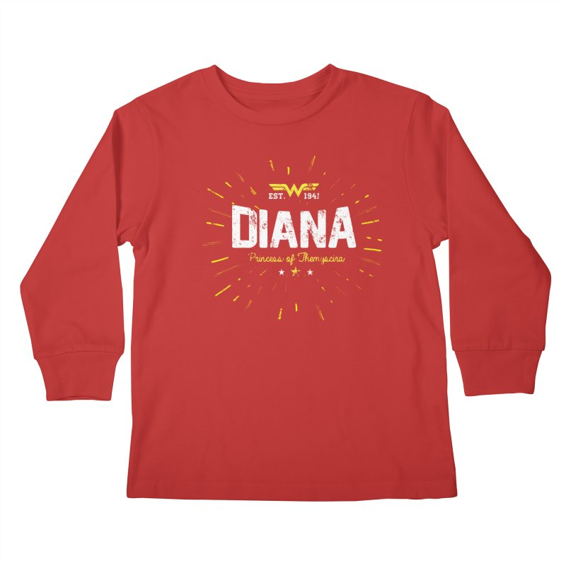 Vintage Princess  Kids Longsleeve T-Shirt by halfcrazy designs